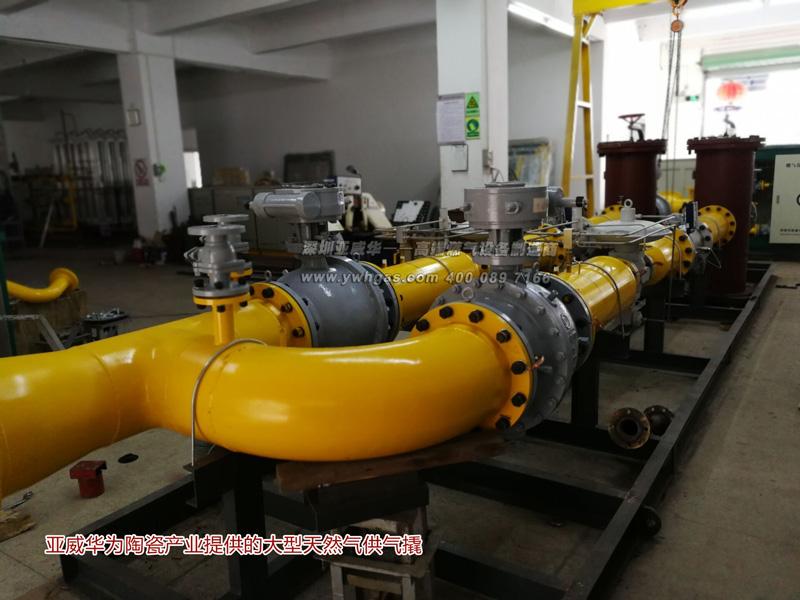 亚威华为陶瓷企业提供大型供气撬