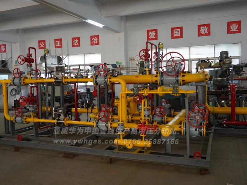 亚威华为中缅管线生产高中压分输站二