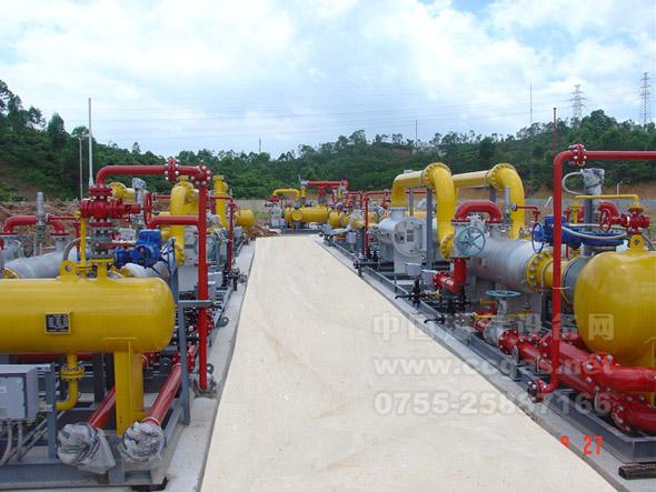 亚威华参与天然气门站工程之一