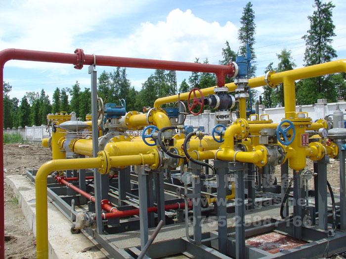 亚威华参与天然气门站安装